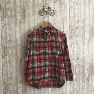 Madewell plaid flannel long sleeve shirt